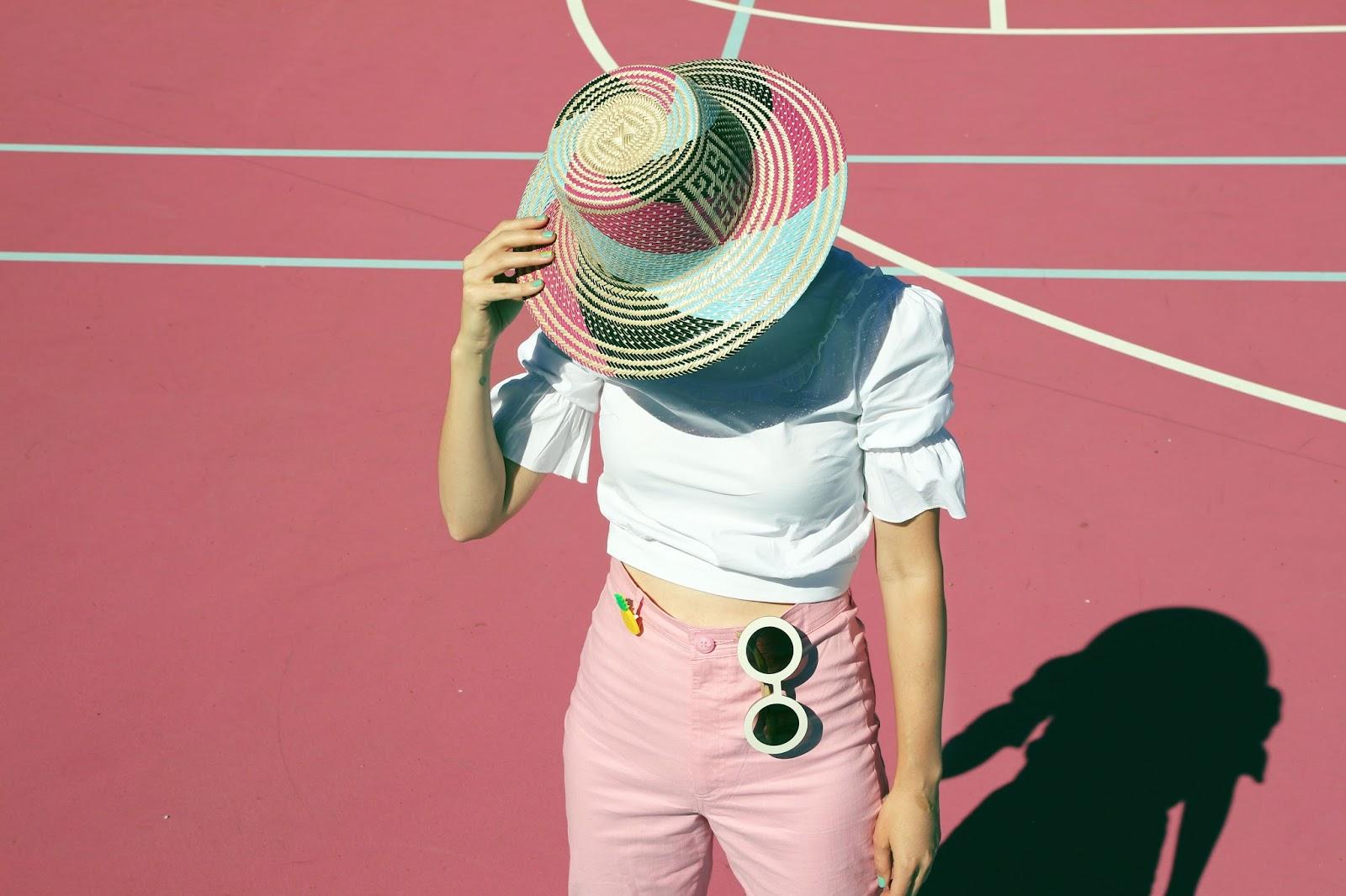 Pink phone, pink pants //