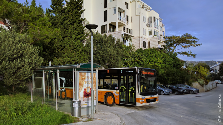 Автобусная остановка в районе Мокошица, Дубровник