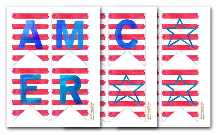 Patriotic Banner Print
