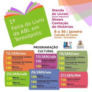 1ª Feira do Livro da ABL em Teresópolis na Calçada da Fama