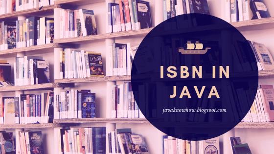 java program for isbn number