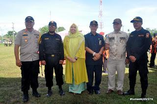 Bupati Muaro Jambi Menghadiri Apel Gelar Pasukan Dalam Rangka Menghadapi Pemilu 2019