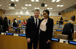 Photos; South African media personality Bonang Matheba moderates session on Girl's Education at the United Nations General Assembly