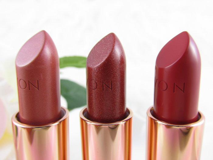 Review: AVON Ultra Color Lipstick - Golden Nude - Sparkling Bronze - Burnished Red