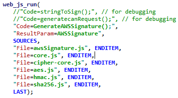 Performance Testing Snippets: AWS4 Signature generation