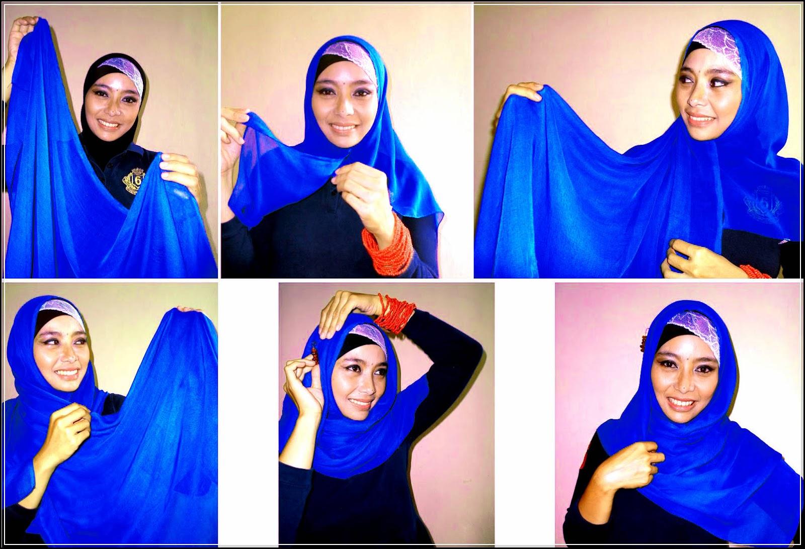 22 Gambarnya Tutorial Hijab Dengan Anting Untuk Kamu Tutorial