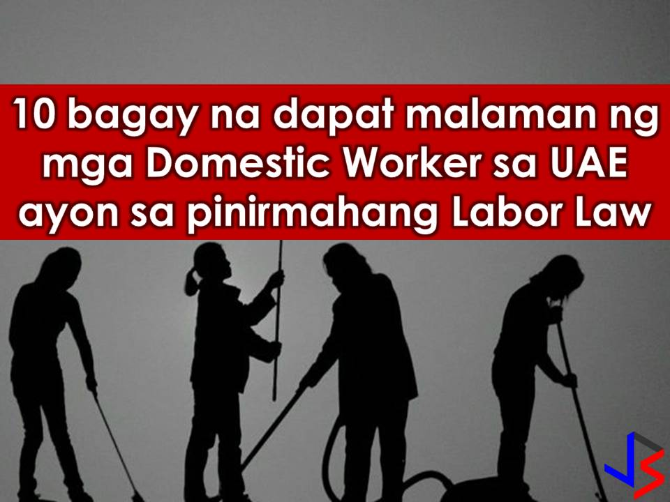 Read: UAE President, Signed UAE Domestic Workers Law; Bahrain Promises to Protect OFWs