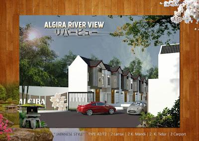 Algira 8 River View Rumah 2 Lantai Dekat Stasiun Cilebut