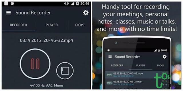 Phần mềm ghi âm Anroid- MDroid Sound Recorder