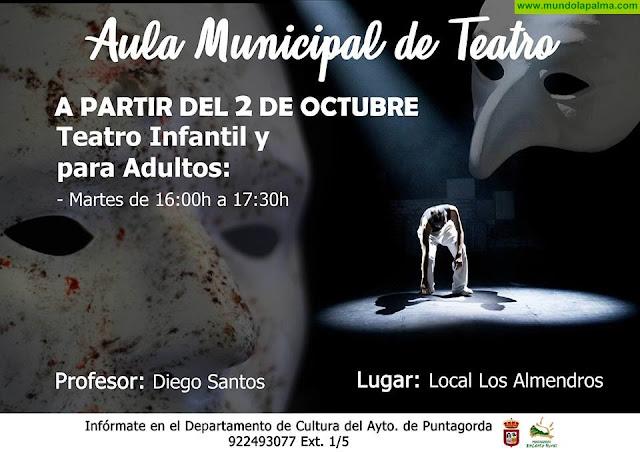 Comienzan Las clases de TEATRO y Aula de CUERDAS en Puntagorda