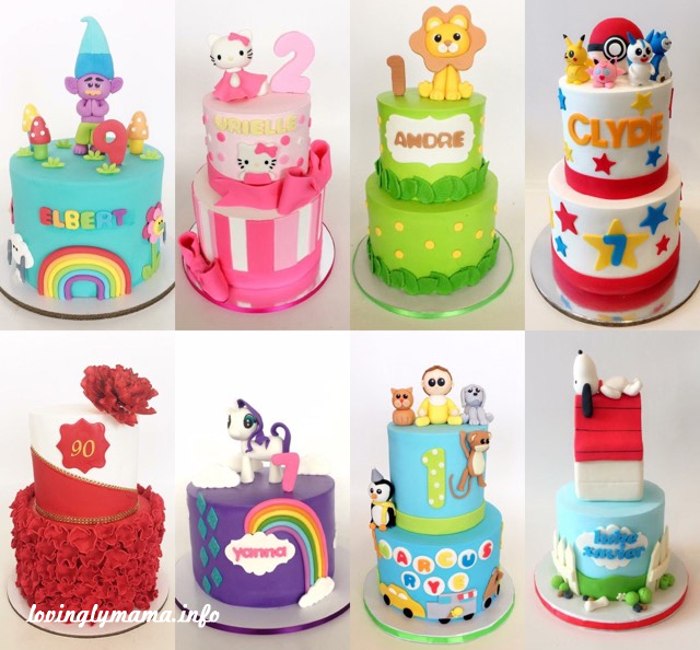 Bacolod fondant birthday cakes - Quino's cakes