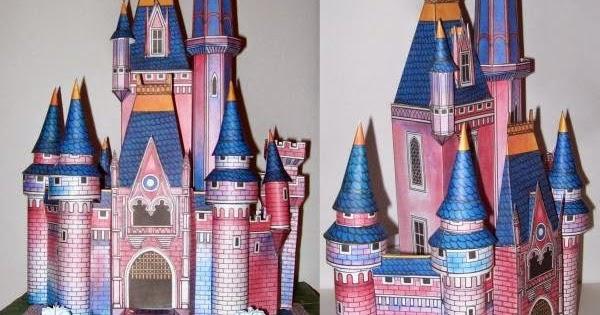 Vintage Disney Cinderella Castle Papercraft Jpg