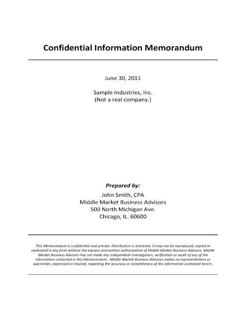 Confidential Memo Template