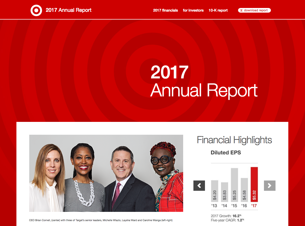 Target's 2017 annual report