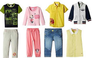 Popular Brands Kids Clothing – Minimum 50% off starts from Rs.87 @ Amazon