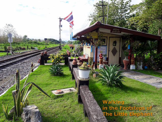 Rail-road crossing station in Phrae province, North Thailand