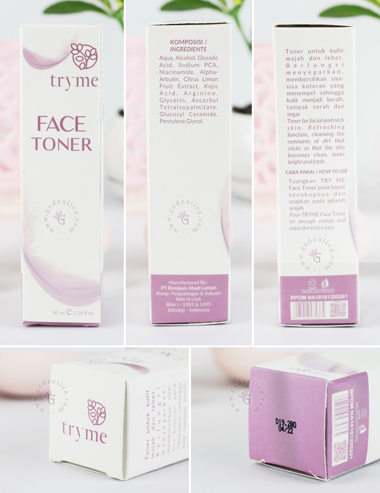 Review Tryme Face Toner