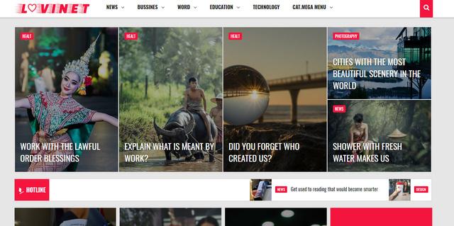 Lovinet Magazine Responsive Blogger Templates