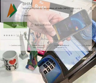 Cashless transactions bhim app