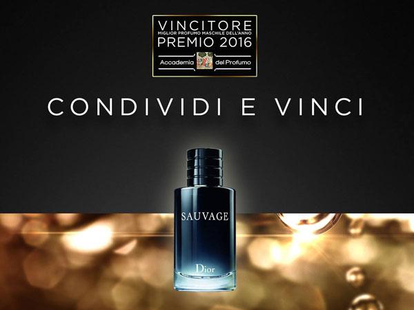 profumo Dior Sauvage Condividi e vinci