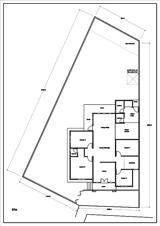 Denah rumah minimalis satu lantai luas 144m2