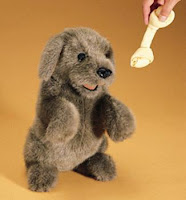 Folkmanis Dog Puppet Sitting
