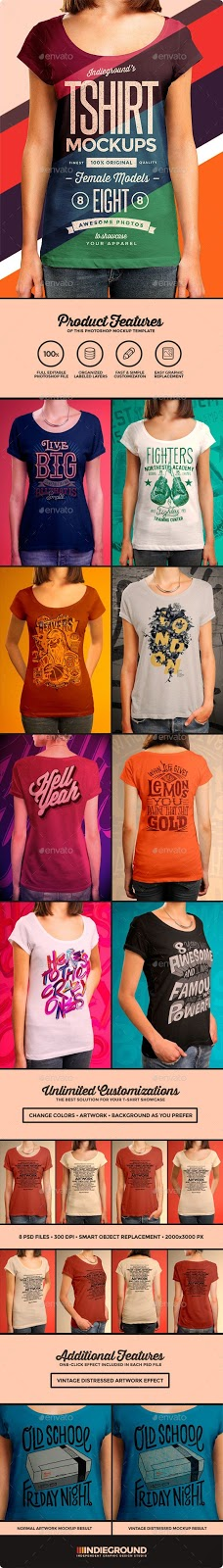 5. Women T-Shirt Mockups