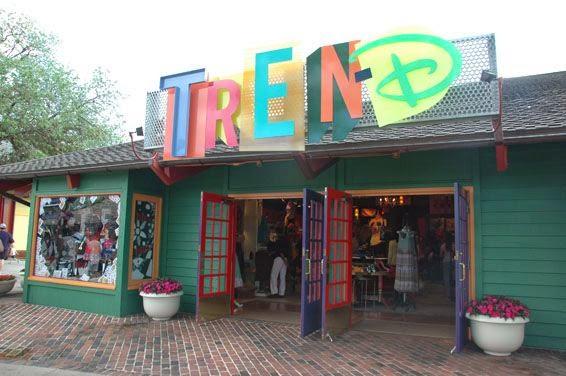 Entrada da Tren-D Store na Disney em Orlando
