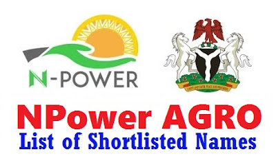N-power Agro Shortlisted Candidates Names 2017/2018 | Download Full List Here