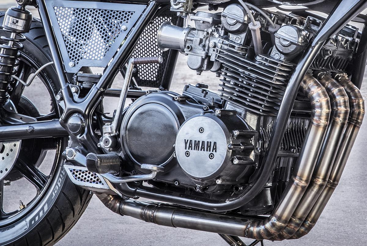 three times the fun - roast moto xs750 ~ return of the cafe racers