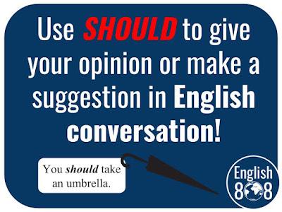 English use You should take an umbrella