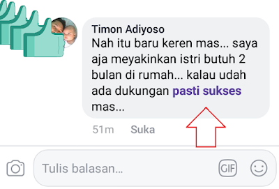Cara buat tulisan Pasti Sukses warna Ungu di Facebook