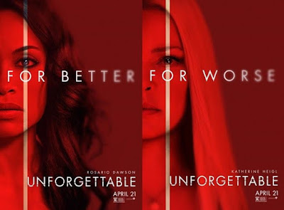 English Movie, Hollywood, Hollywood Movie, Unforgettable Movie, 2017, List of English Movies in September 2018, Unforgettable Cast, Pelakon Filem Unforgettable, Rosario Dawson, Katherine Heigl, Geoff Stults, Cheryl Lad, Isabella Kai Rice, Thriller, Suspen, Poster, Blog Dari Hati Miss Mulan, Sinopsis,