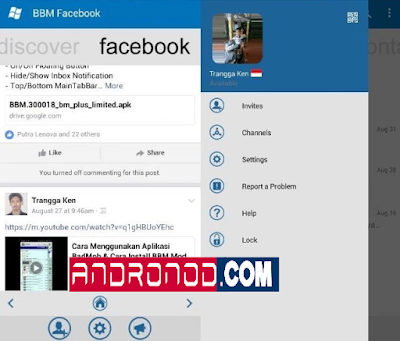 BBM Windows Phone Themes Facebook v3.0.1.25 Apk