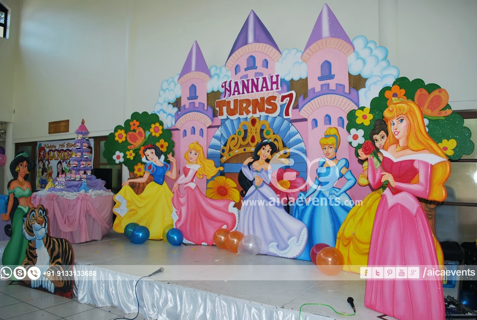 Princess themed Birthday party & Aicaevents India: Princess themed Birthday party