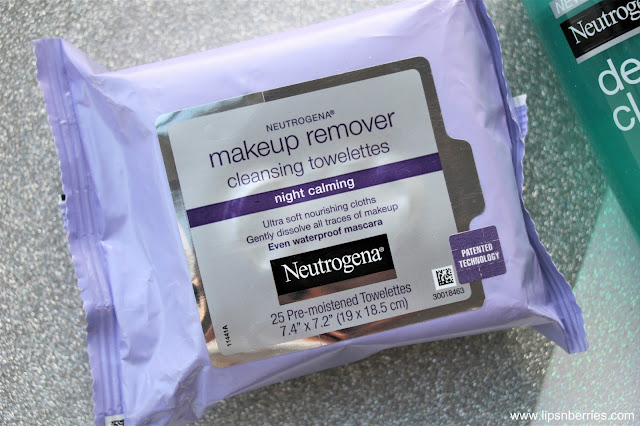 Neutrogena Night Calming Makeup remover cleansing wipes review