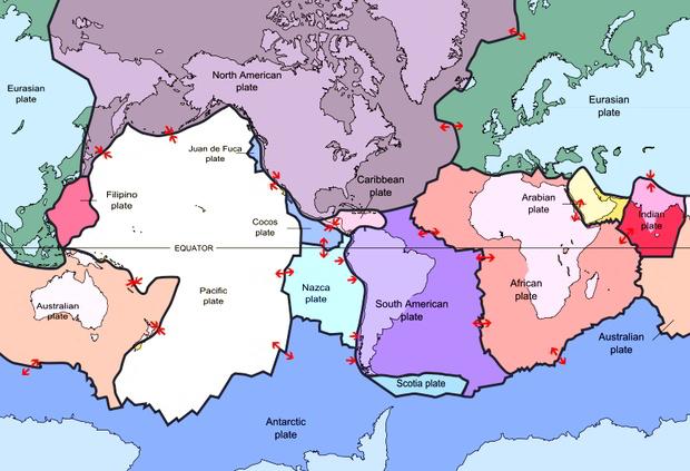 lempeng tektonik di dunia