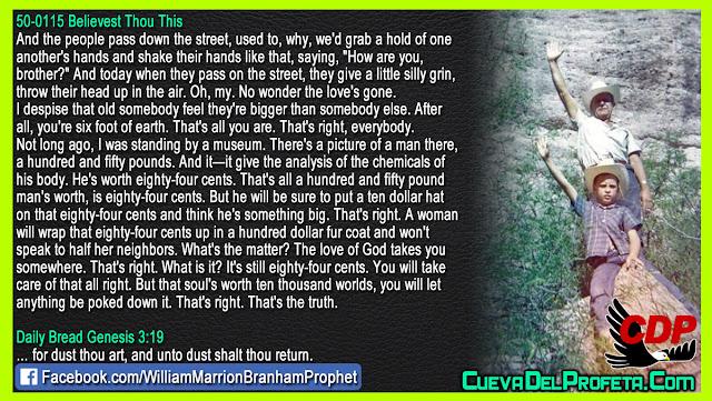 He is worth eighty four cents - William Branham Quotes