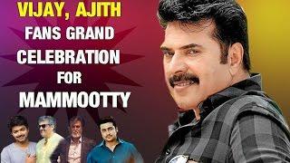 Vijay, Ajith Fans Grand Birthday Celebration For Mammootty in Kerala