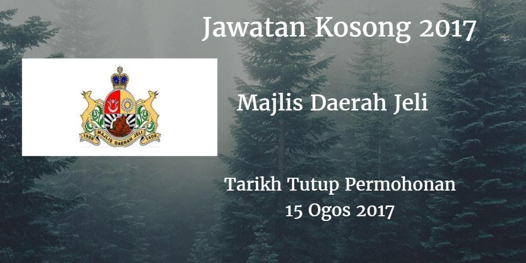 Jawatan Kosong MdJeli 15 Ogos 2017