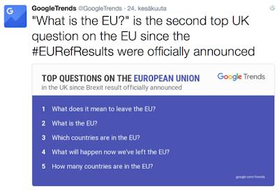 Brexit: Epäonnistunut kansanäänestys