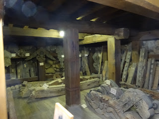 松江城の天守内の地階