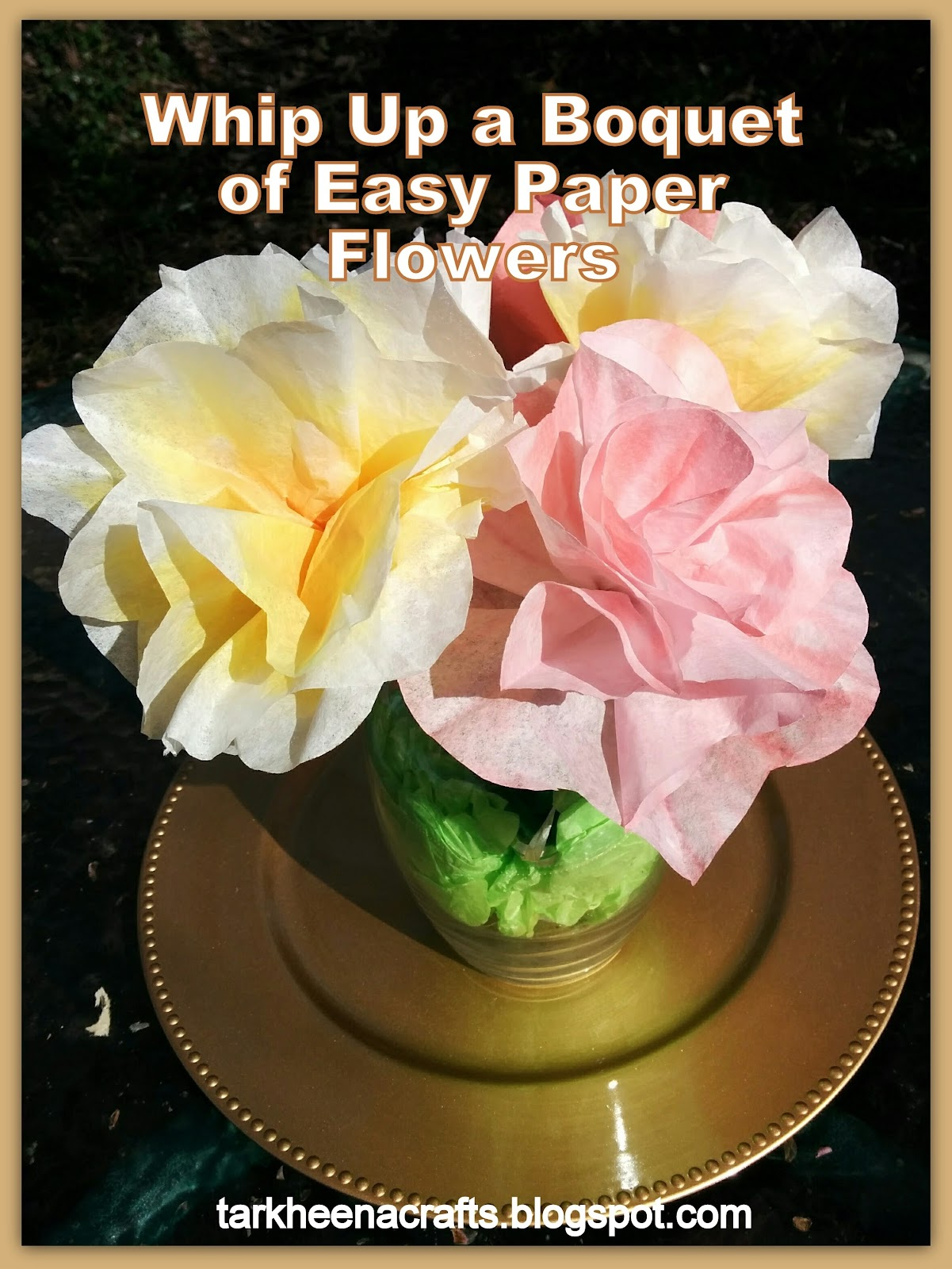 Tarkheena crafts quick n dirty coffee filter flowers its time for a new quick n dirty tutorial coffee filter flowers izmirmasajfo