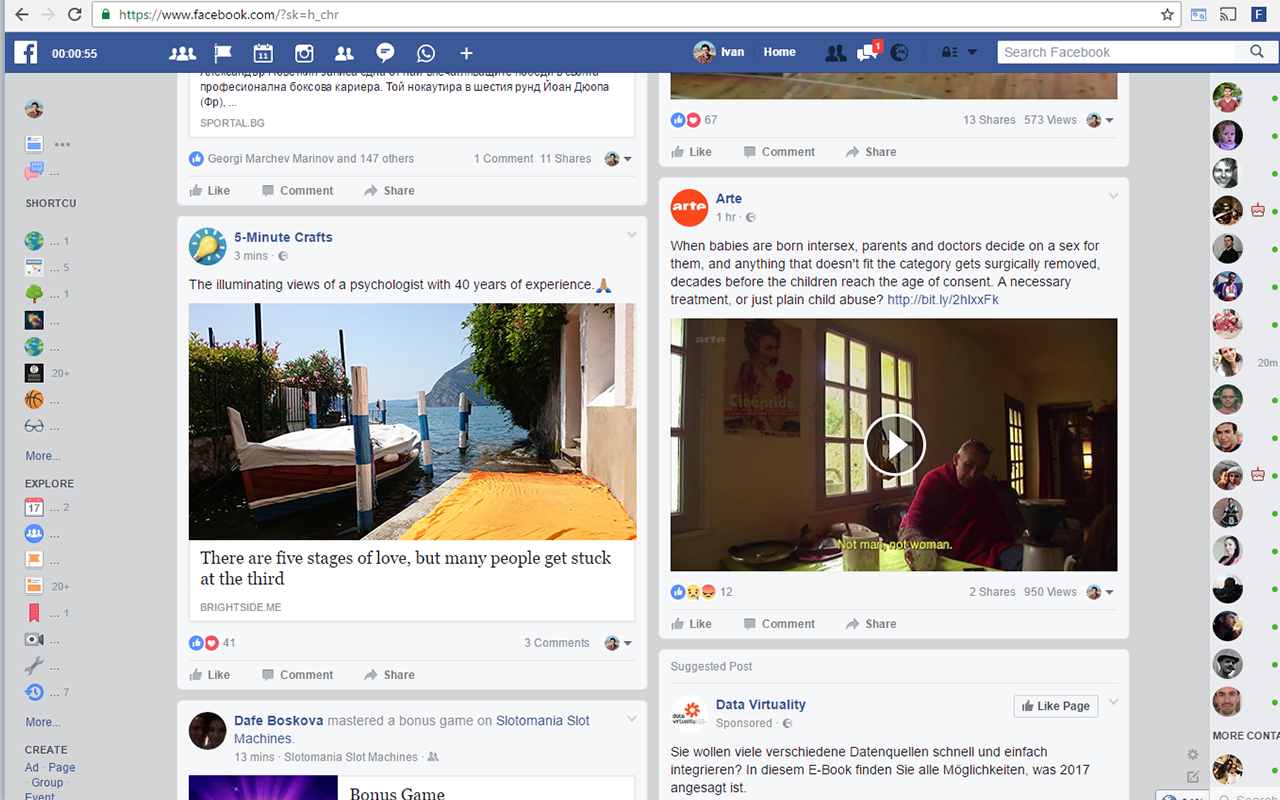 New Facebook Design with fave | Quick Links Web Apps