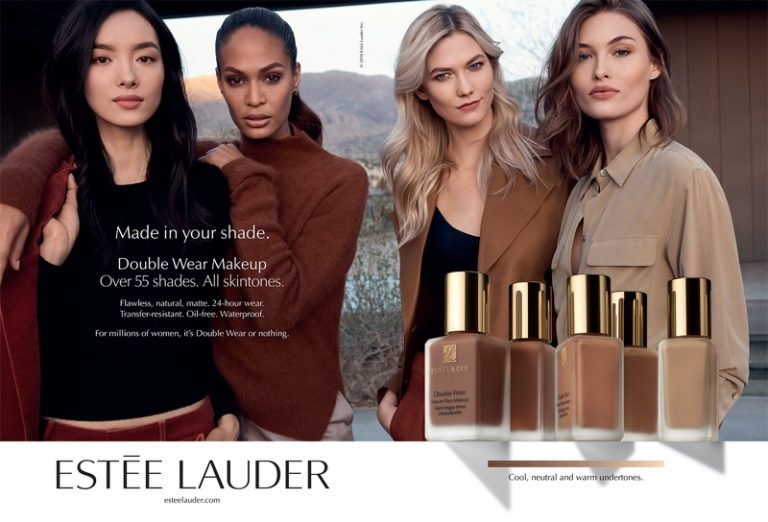 Estee Lauder Double Wear Makeup Campaign 2018