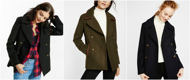 Express Piped Peacoat $55 (reg $148)
