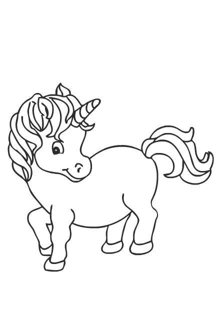 Unicorno Su Arcobaleno Disegno Da Colorare Per Le Bambine