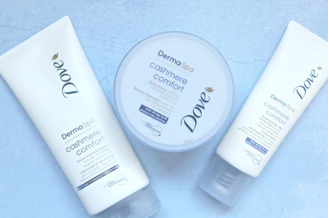 review dove dermaspa cashmere comfort