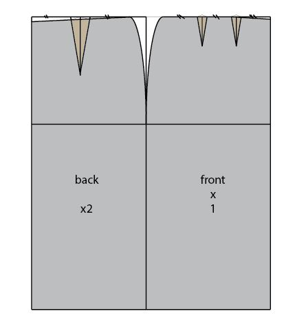 how to draw a basic skirt pattern