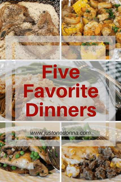 Five Favorite Dinners